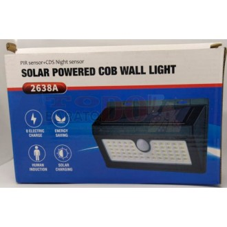 Lampara Pared Luz 55 Led Panel Solar...