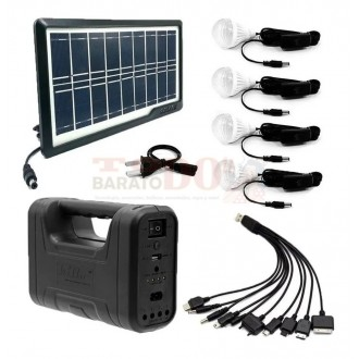 Kit Panel Solar Killo 4 Bombillos...