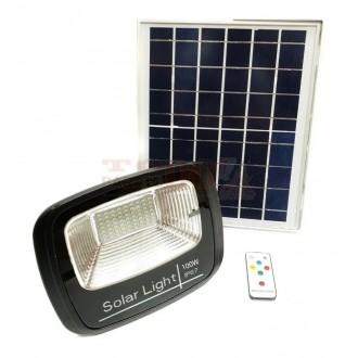 Reflector Led Con Panel Solar 100w...