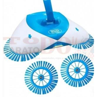 Escoba Spin Broom Barredora Aspiradora