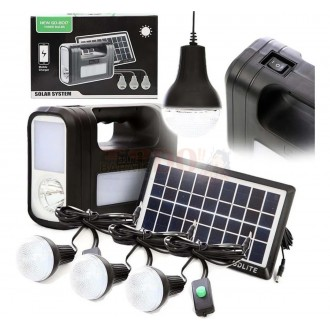 Kit Panel Solar GD-8017 Con Batería Y...