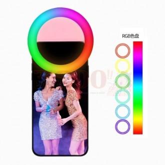 Aro Luz Selfie Tipo Clip Celular Rgb...