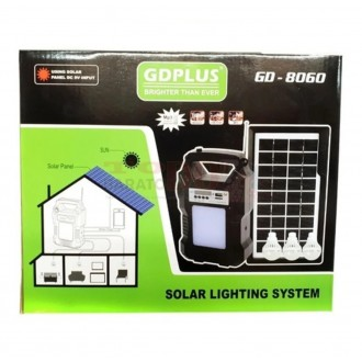 Kit Panel Solar GD-8060 Radio...